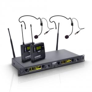 LD Systems WIN 42 BPH 2 B 5 mikrofon bezprzewodowy nagłowny, podwójny