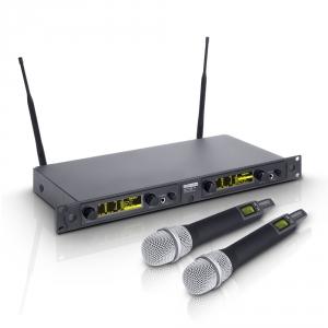 LD Systems WIN 42 HHD 2 mikrofon bezprzewodowy doręczny, podwójny