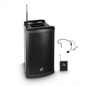LD Systems Roadman 102 HS B5 (607 - 607 MHz) przenośny zestaw nagłośnieniowy z mikrofonem bezprzewodowym nagłownym