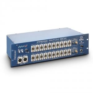 Palmer Pro PRESS PATCH BOX 20 STEREO konferencyjny rozdzielacz sygnału, 10-kanałowy stereo/20-kanałowy mono