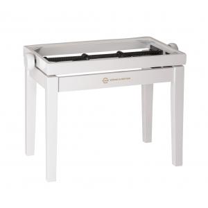 K&M 13711-000-23 rama ławy do pianina, biały połysk