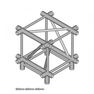 DuraTruss DT 44/2-C51-XD X-joint element konstrukcji aluminiowej + dół