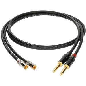 Klotz kabel 2xRCA / 2xTS 0,3m