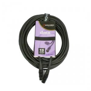 Accu Cable przewód DMX 5pin 110 Ohm 15m
