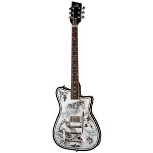 Duesenberg DJD Alliance Johnny Depp Black & Aluminum gitara elektryczna