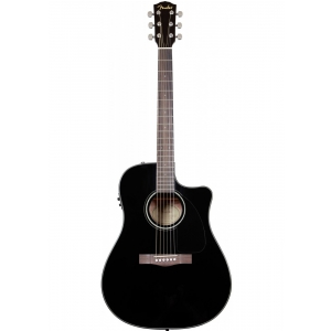 Fender CD-60SCE Dreadnought Black WN gitara  (...)