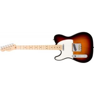 Fender American Pro Telecaster Left-Hand, Maple Fingerboard, 3-Color Sunburst gitara elektryczna