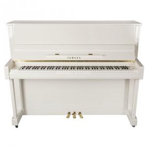 Yamaha b3 E PWH pianino (121 cm), kolor biały, połysk (Polished White)