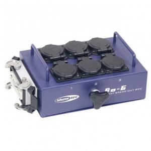 Showtec BO6S1 Breakoutbox 6 - dystrybutor 16-pin -> 6x  (...)