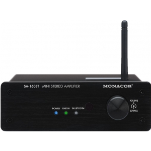 Monacor SA-160BT wzmacniacz stereo, 2x30W/8Ohm z Bluetooth