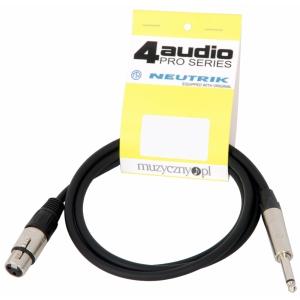 4Audio MIC2022 PRO 1,5m przewód niesymetryczny XLRż TS  (...)
