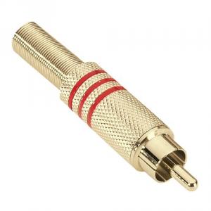 Adam Hall Connectors 7623 RED - Wtyczka cinch, pozłacana,  (...)