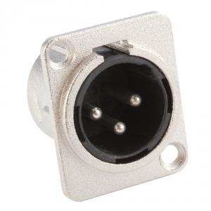 Adam Hall Connectors 7838 - Gniazdo XLR, męskie, typ D