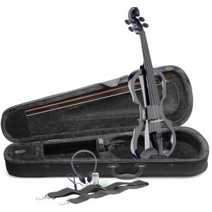 Stagg EVN-X 4/4 BK skrzypce elektryczne komplet, kolor  (...)