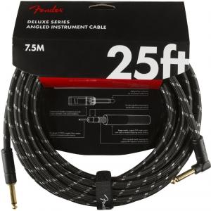 Fender Deluxe 25' Angle Black Tweed kabel gitarowy