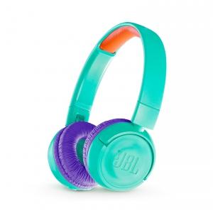 JBL JR300BT, bluetooth turkusowe słuchawki nauszne dla  (...)