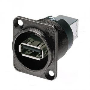 Neutrik NAUSB-W-B gniazdo tablicowe USB, czarne