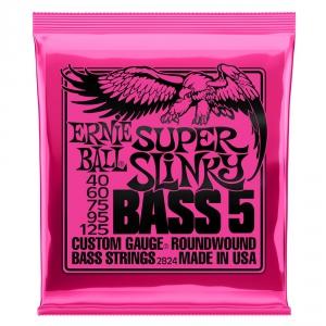 Ernie Ball 2824 NC 5′s Super Slinky Bass struny do gitary  (...)
