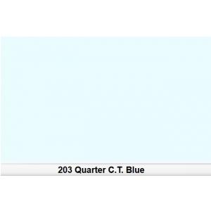 Lee 203 Half C.T.Blue 1/4 filtr barwny folia - arkusz 50 x  (...)