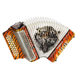Hohner Corona II Los Tigres, akordeon diatoniczny FBbEb  (...)