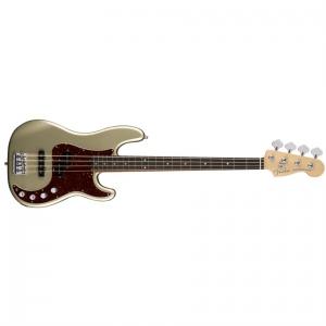 Fender American Elite Precision Bass Ebony Fingerboard, Champagne gitara basowa