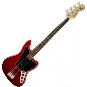 Fender Vintage Modified Jaguar Bass Special, Laurel Fingerboard, Crimson Red Transparent gitara basowa