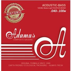 Adamas 5300M (669605) Struny do basu akustycznego Phosphor Bronze Zestaw 4-string Med