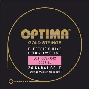 Optima 2028EL (674617) Struny do gitary elektrycznej Gold Strings Round Wound Komplet