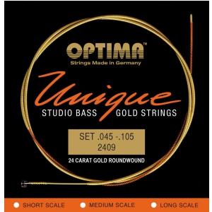 Optima 2409L (680845) struny do gitary basowej Unikalne struny Studio Gold Strings Komplet