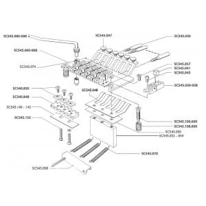 Schaller (SC545067) Tremolo Dodatki Płyta podstawy z wstawkami ostrza VintageCopper