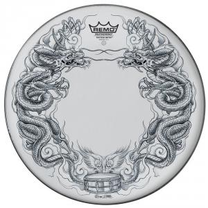 Remo Naciągi Tattoo Skyn Powerstroke 3 Bassdrum 22 Tattoo Dragon Skyn czarny PA-1322-TT-T08