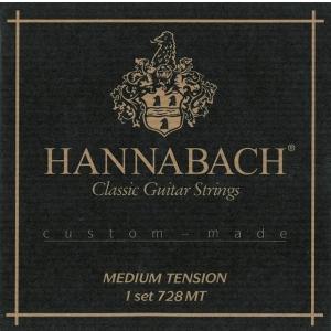 Hannabach (652688) 728MT struny do gitary klasycznej (medium) - Komplet 3 strun basowych