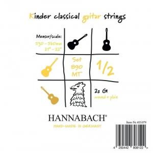 Hannabach (653072) 890 MT struna do gitary klasycznej 1/2, menzura 53-56cm (medium) - H/B2