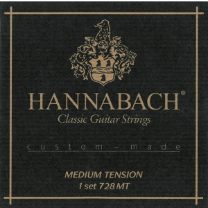 Hannabach (652689) 728MT struny do gitary klasycznej (medium) - Komplet 3 strun Diskant