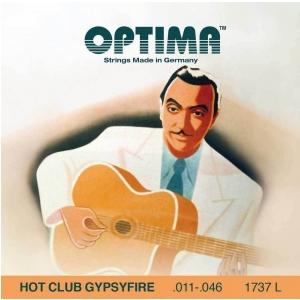 Optima (667518) struny do gitary akustycznej Hot Club Gypsyfire, posrebrzane - Komplet z owijką