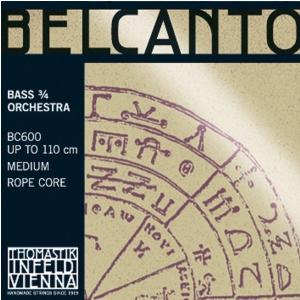 Thomastik (644659) struny do kontrabasu Belcanto Rope Core - H/B 3/4 - BC65