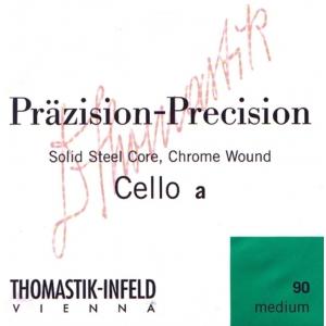 Thomastik (641624) Prazision struny do wiolonczeli - Set 4/4 miękki - 102w