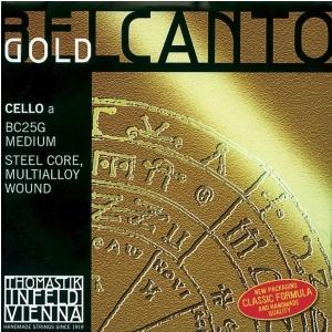 Thomastik (641741) Belcanto Gold struna do wiolonczeli - A 4/4 średnia - BC25G