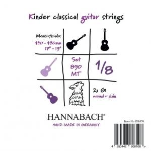 Hannabach (653052) 890 MT struna do gitary klasycznej 1/8, menzura 44-48cm (medium) - H/B2