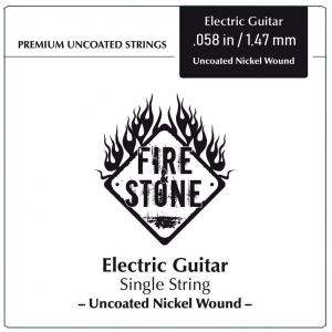 Fire&Stone (673558) Pojedyncze struny do gitary elektrycznej Nickel Wound .058in./1,47mm wound