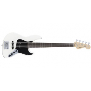 Fender Deluxe Active Jazz Bass V, Pau Ferro Fingerboard, Olympic White gitara basowa