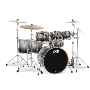 PDP by DW Shell set Concept Maple Silver Black Sparkle
