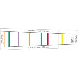 Gewa 414888 Dont Fret - naklejka - oznakowanie podstrunnicy dla początkujących - skrzypce 4/4, altówka 35,5cm (14)