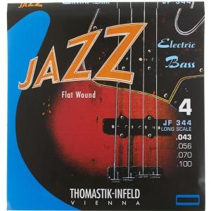 Thomastik JF344 (682715) struny do gitary basowej Jazz Bass Seria Nickel Flat Wound Roundcore Komplet