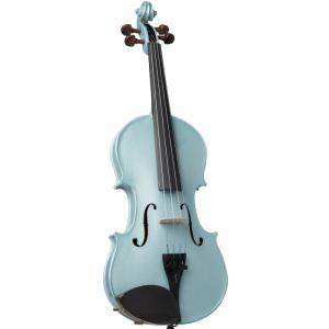 Stentor 1401LBUA skrzypce 4/4 Harlequin, zestaw, jasny niebieski