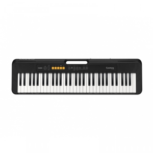 CASIO CT S 100 BK keyboard, kolor czarny z zasilaczem