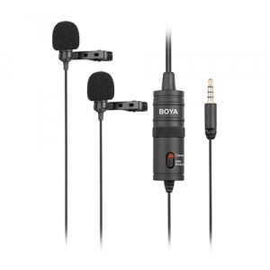 BOYA BY-M1DM podwójny mikrofon krawatowy