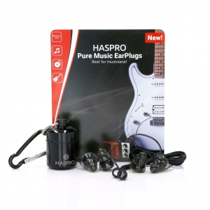 Haspro Pure Universal Black zatyczki do uszu (para)