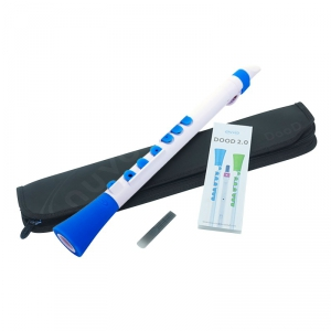 Nuvo NUBO430WBL Dood Flute 2.0, flet prosty C, biało-niebieski