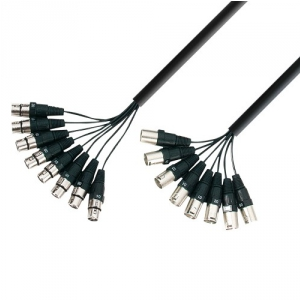 Adam Hall Cables K3 L8 MF 0300 - Kabel Multicore 8 x XLR  (...)